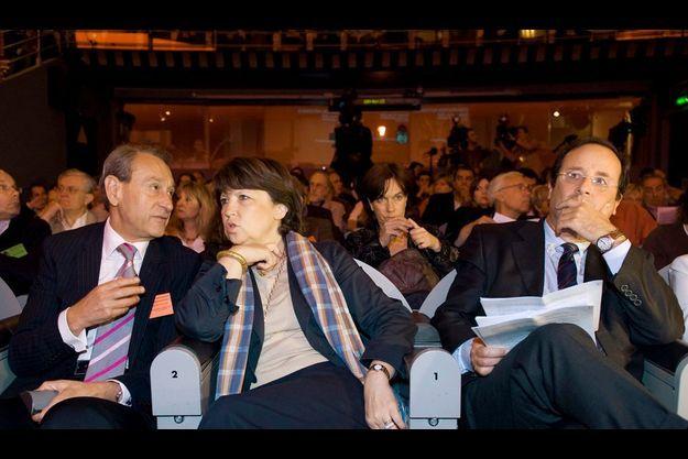 Bertrand Delanoë, Martine Aubry et François Hollande (de g. à dr.).