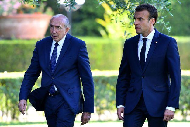 Gérard Collomb et Emmanuel Macron le 26 juin dernier au Vatican.