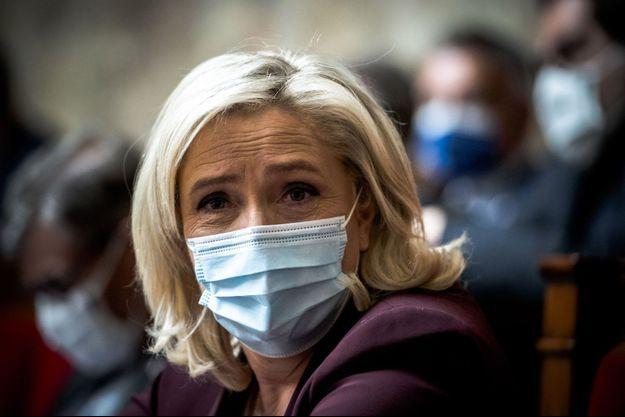 Marine Le Pen, à l'Assemblée nationale, le 4 mai.