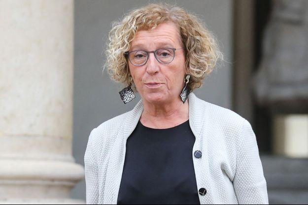 """Muriel Pénicaud, ici fin novembre à l'Elysée, s'est dite mercredi """"hors de cause"""" dans l'enquête sur le déplacement à Las Vegas effectué en 2016 par Emmanuel Macron."""