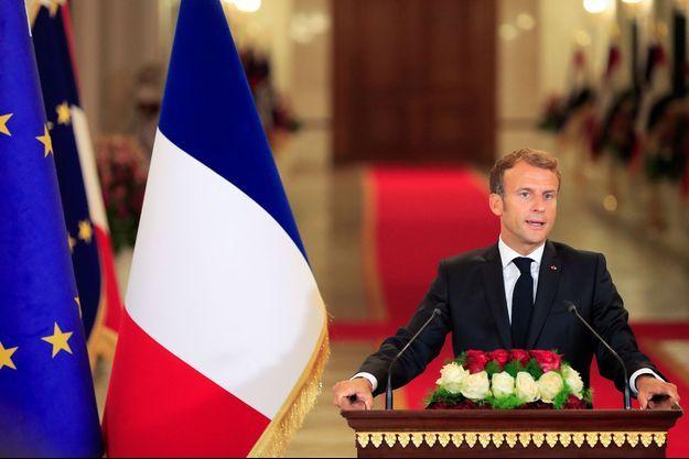 Emmanuel Macron samedi à Bagdad.