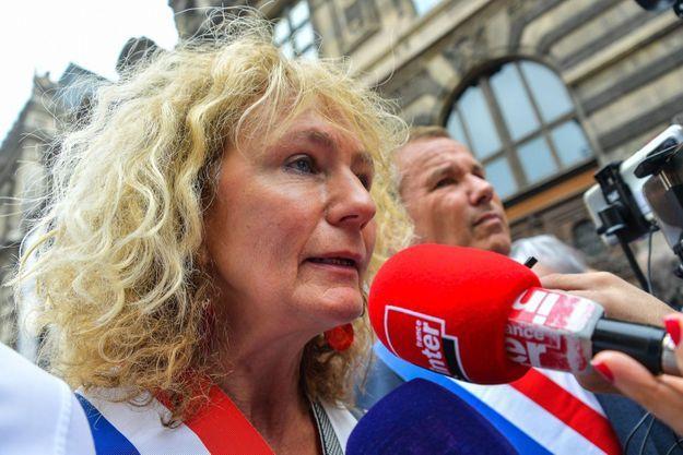 Martine Wonner, lors de la manifestation samedi contre le pass sanitaire.