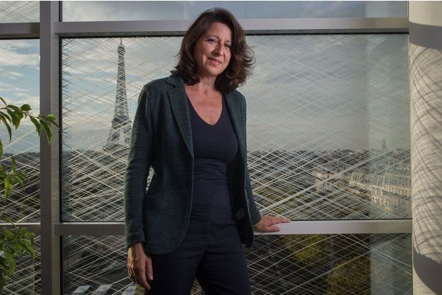 Agnès Buzyn dans son bureau au ministère de la Santé fin 2017.