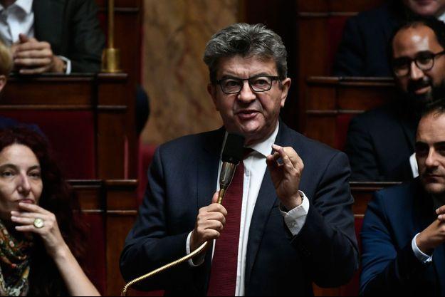 Jean-Luc Mélenchon à l'Assemblée nationale le 16 octobre 2018