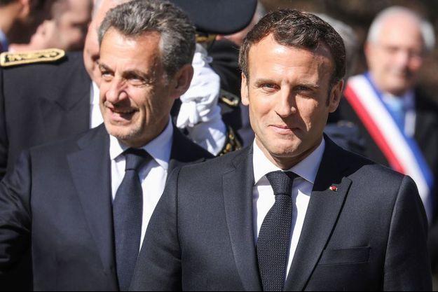 Nicolas Sarkozy et Emmanuel Macron le 31 mars dernier.