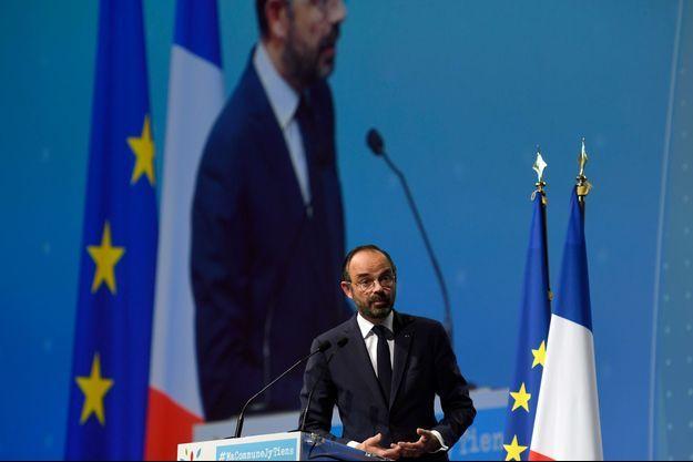 Edouard Philippe jeudi devant le Congrès de l'Association des maires de France.