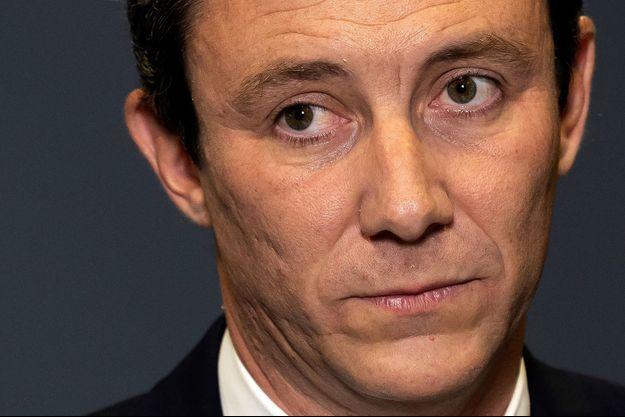 Benjamin Griveaux lors de l'annonce du retrait de sa candidature aux municipales de Paris, le 14 février 2020.