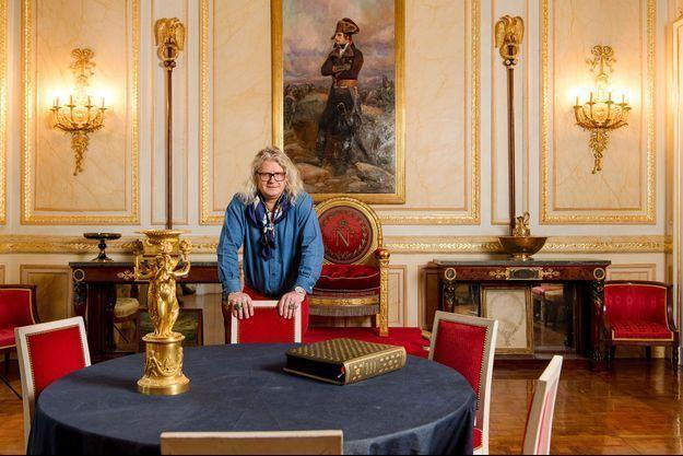 """Pierre-Jean Chalençon, propriétaire du """"Palais Vivienne"""", situé dans le centre de Paris."""