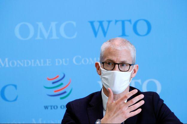 Franck Riester, le 1er avril à Genève.