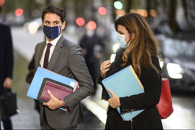 Gabriel Attal et Marlène Schiappa, ici en octobre dernier à Paris.