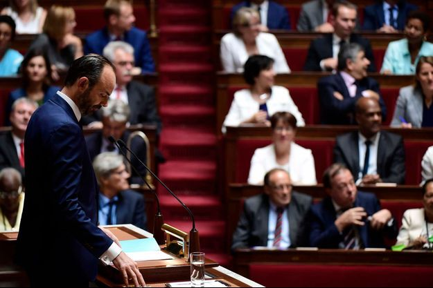 Edouard Philippe lors de son discours de politique général le 4 juillet 2017.