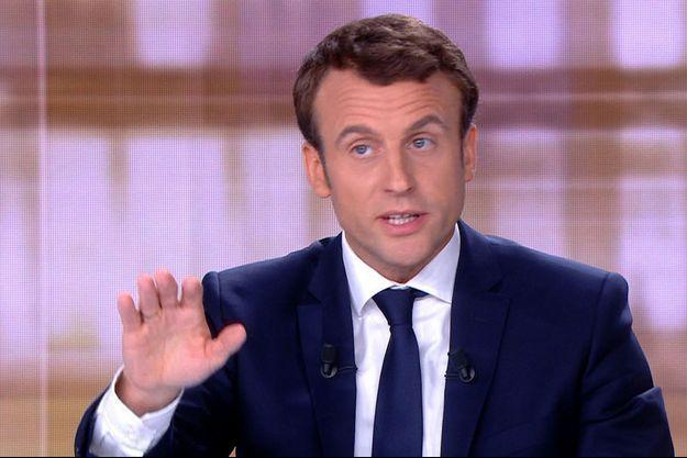 Emmanuel Macron lors du débat de l'entre deux tours.