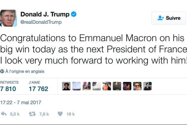 Le message de Donald Trump