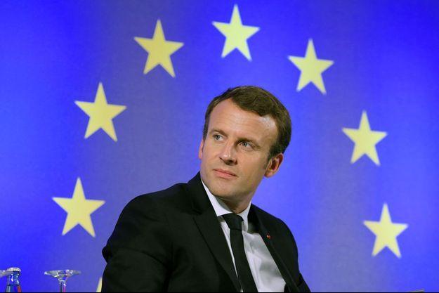 Emmanuel Macron à Francfort, le 10 octobre.