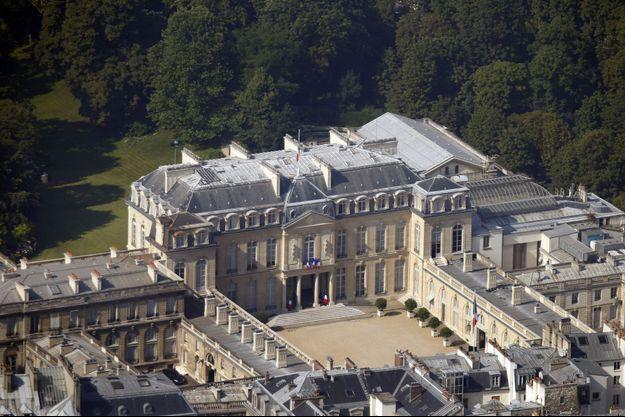 Vue aérienne du palais de l'Elysée.