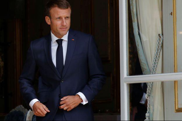 Emmanuel Macron, ici à l'Elysée vendredi.