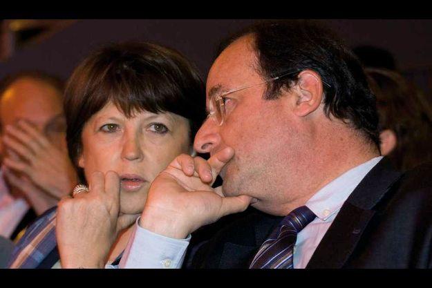 Martine Aubry et François Hollande (illustration).