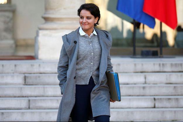 Najat Vallaud-Belkacem, à l'Elysée en décembre.