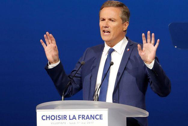 """Dupont-Aignan assure qu'il n'aurait """"jamais"""" fait alliance avec Jean-Marie Le Pen."""