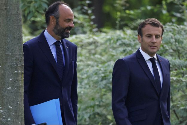 Edouard Philippe et Emmanuel Macron, en juin 2020.