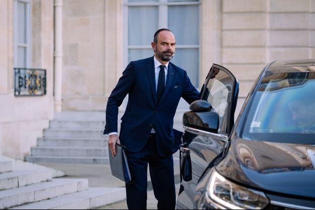 Edouard Philippe à l'Elysée mercredi.