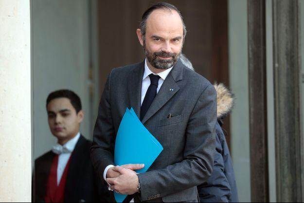 Édouard Philippe à l'Elysée fin février.