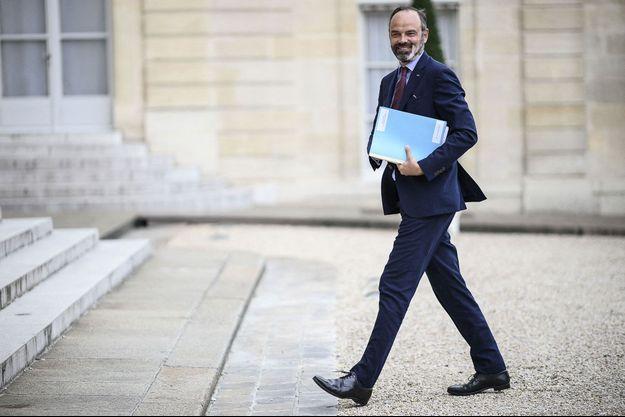 Edouard Philippe, le 2 juillet 2020 à l'Elysée , veille de son départ.