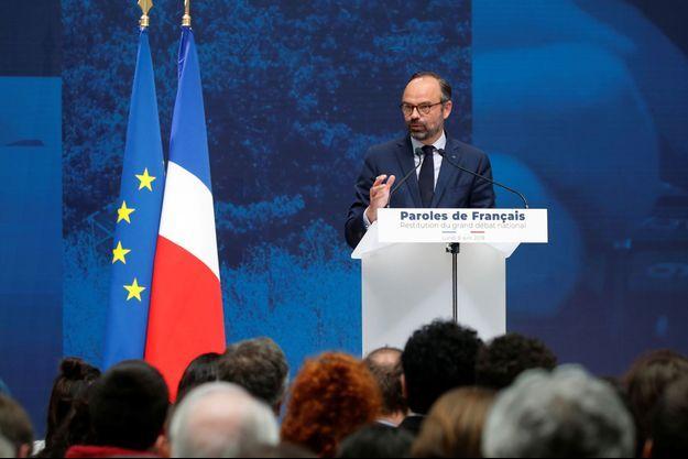 Edouard Philippe, lundi au Grand Palais.