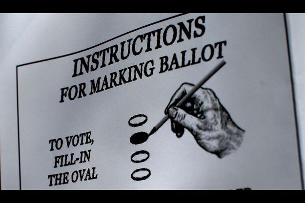 Des instructions pour bien voter, à Boston.
