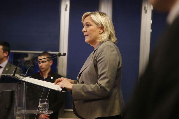 Marine Le Pen, dimanche soir.