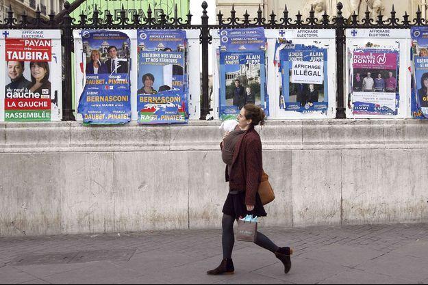 Affiches de campagne à Marseille (photo d'illustration).