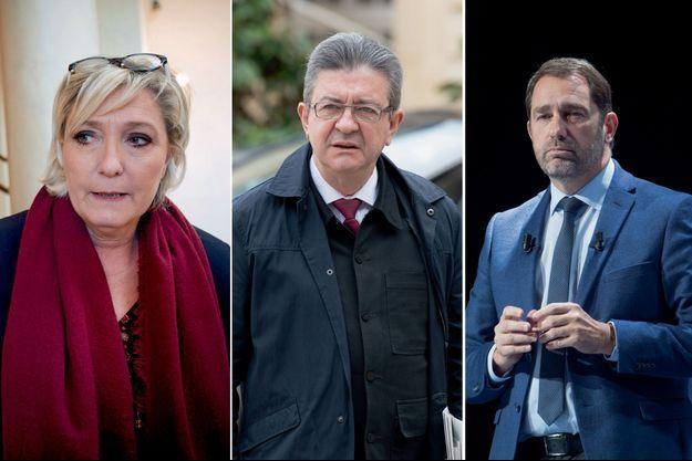 Marine Le Pen. Jean-Luc Mélenchon. Christophe Castaner.