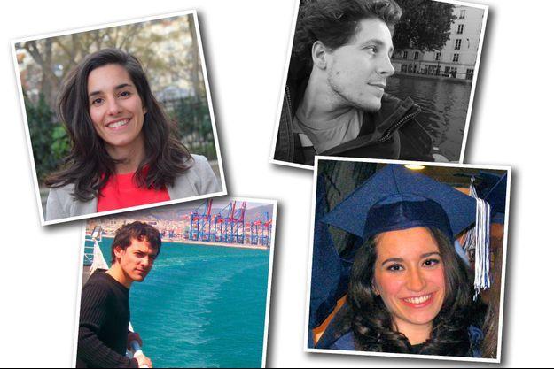 De g. à dr. et de haut en bas : Gabrielle Siry, Julien Bayou, Stéphane Séjourné et Lydia Guirous.
