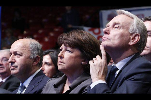 Laurent Fabius, Martine Aubry et Jean-Marc Ayrault le 13 juin.