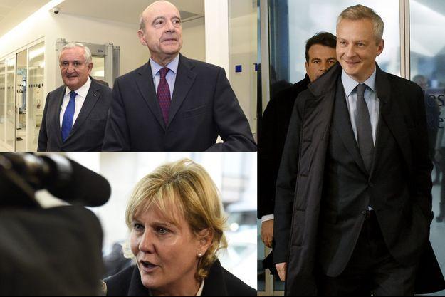 Jean-Pierre Raffarin, Alain Juppé, Nadine Morano et Bruno Le Maire étaient présents, lundi soir, lors du bureau politique des Républicains.