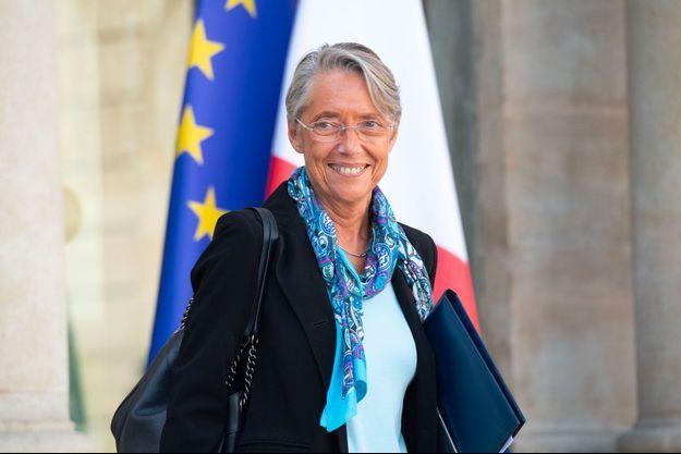 Elisabeth Borne à l'Elysée, mercredi.