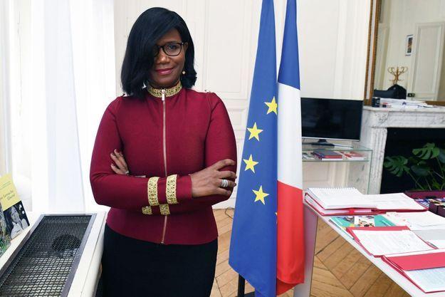 Elisabeth Moreno, dans son bureau du ministère, le 20 novembre.