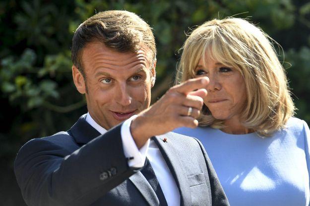 Emmanuel et Brigitte Macron le 19 août à Brégançon.