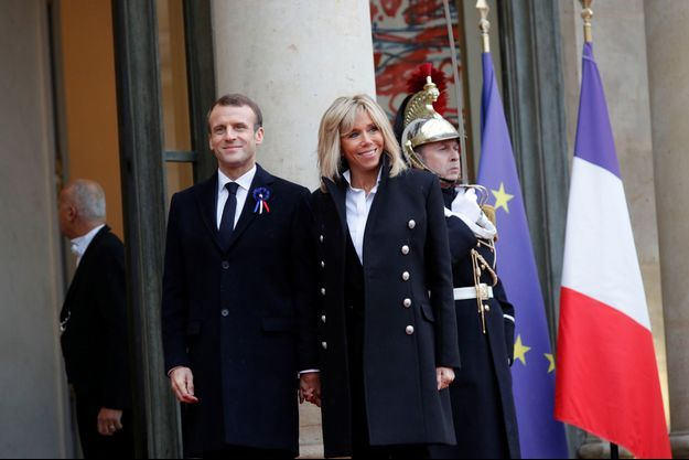 Emmanuel et Brigitte Macron ici à l'Elysée le 11 novembre dernier.