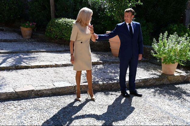 Emmanuel et Brigitte Macron en août 2020 au Fort de Bregançon.