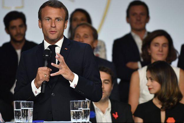 Emmanuel Macron lors du lancement du France Digital Day, le 17 septembre 2019.
