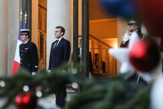 Emmanuel Macron, ici le 17 décembre à l'Elysée.