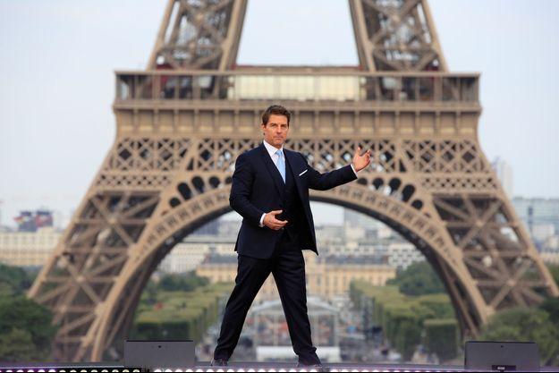 """Tom Cruise est à Paris pour la promotion de """"Mission : Impossible - Fallout""""."""