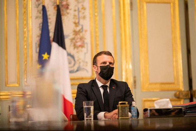 Emmanuel Macron, jeudi dernier à l'Elysée.