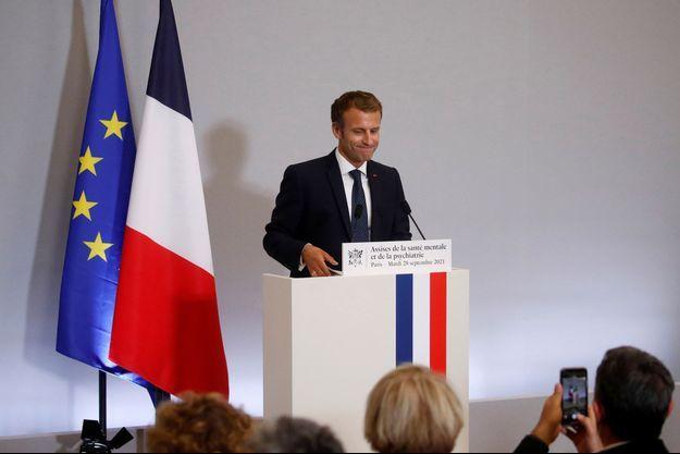 Emmanuel Macron lors des Assises de la santé mentale.