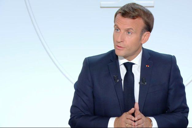 Emmanuel Macron le 14 octobre 2020.