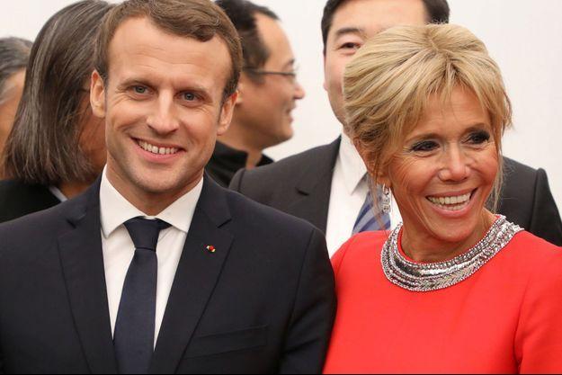 Emmanuel et Brigitte Macron, début janvier en Chine.