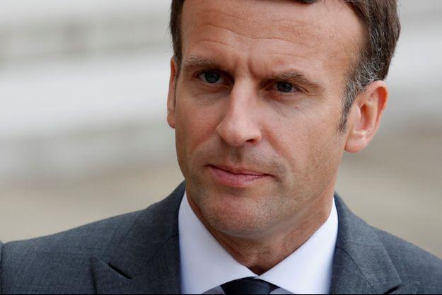 Emmanuel Macron à l'Élysée, le 12 mai 2021.
