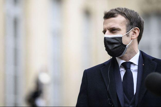 Emmanuel Macron hier, mercredi 16 décembre à l'Elysée.