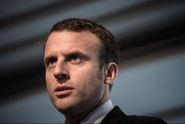 Emmanuel Macron, en meeting à Paris en octobre.